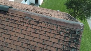 Roof view of damage for buyer's inspection