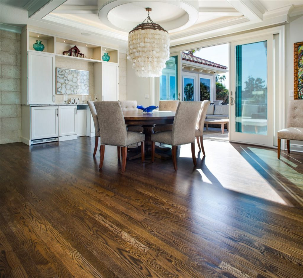 dining area with wood floor | ALLIN Home Inspections | room redesign Sterling