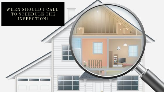 When Should I Call To Schedule The Inspection? | ALLIN Home Inspections | Home Inspection Sterling
