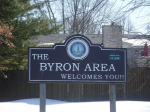 Byron IL Welcome Sign