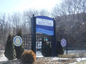 Welcome Sign for Moline IL
